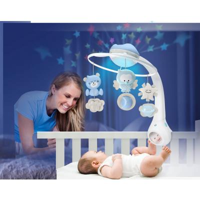 b kids projector blauw muziekmobiel moeder en kind in bedje