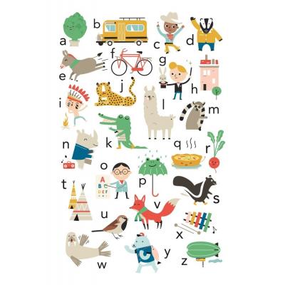 Petit Monkey Poster ABC artisjok - zeppelin 50 x 70 cm NL
