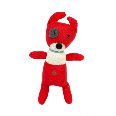 Anne Claire Petit knuffel hond rood
