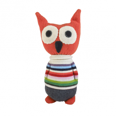 Anne Claire Petit knuffel uil Toon oranje