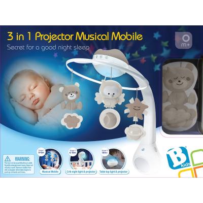 b kids projector grijs muziekmobiel