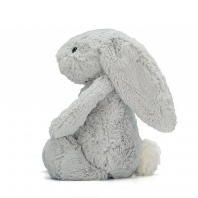 Bashful Zilveren konijn 31 van Jellycat zijkant