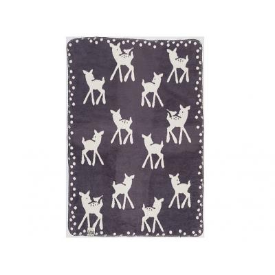 Cara Caro Cervi bambi babydeken grijs 75x100 cm