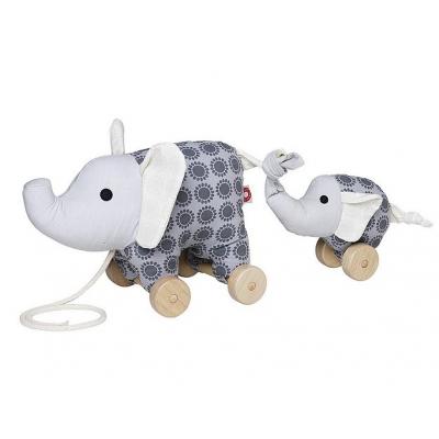 Franck & Fischer trekfiguur Noma olifant grijs