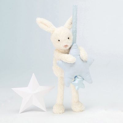 Jellycat bunny star musical blauw