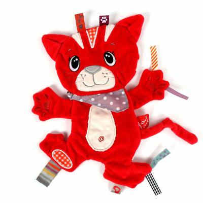 Label Label friends knuffeldoekje kat rood