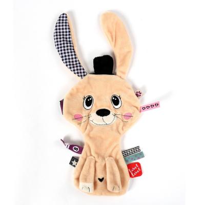 Label Label Friends knuffeldoekje konijn bruin