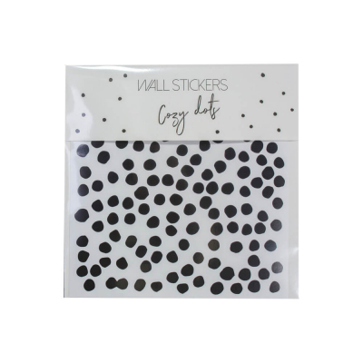 Mies & Co muurstickers cozy dots zwart wit
