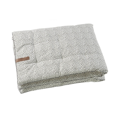 Mies & CO boxkleed cozy dots 80x100 (offwhite)