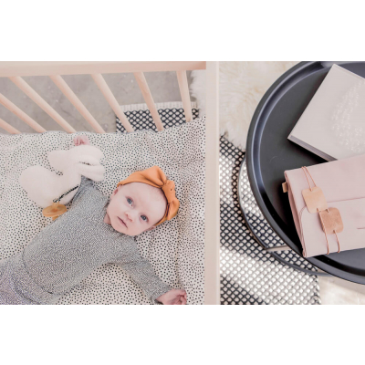 Mies & CO boxkleed cozy dots 80x100 (offwhite) baby in box