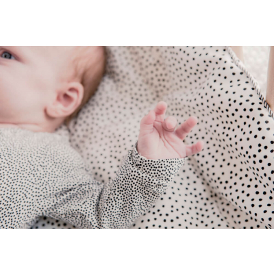 Mies & CO boxkleed cozy dots 80x100 (offwhite) met baby