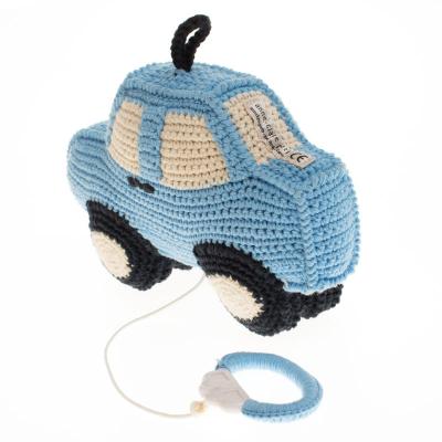 blauwe auto muziekdoosje anne claire petit