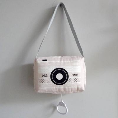 Muziekdoosje roze hip fototoestel