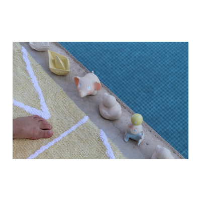 Oli & Carol origami bijt- en badspeeltje boot vanille