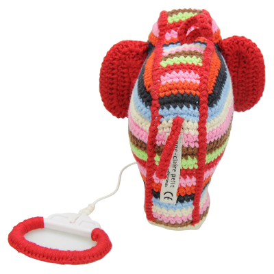 gehaakt muziekdoosje olifant gekleurd anne claire petit achterkan