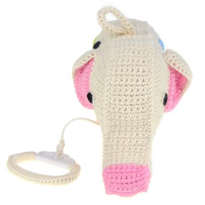 gehaakte olifant muziekdoosje met stippen van anne claire petit voorkant