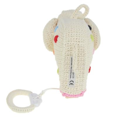 gehaakte olifant muziekdoosje met stippen van anne claire petit achterkant