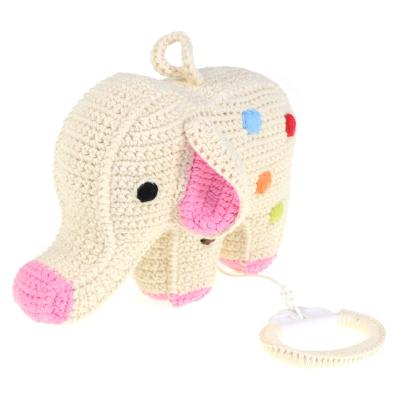 gehaakte olifant muziekdoosje met stippen van anne claire petit zijkant