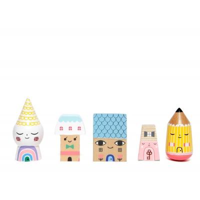 Petit Monkey houten poppetjes Susy's city