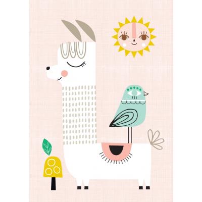 Petit Monkey Poster Sunshine Lama 29.7 x 42 cm