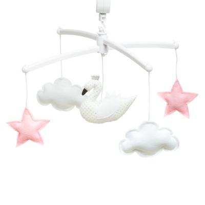 Pouce et Lina muziekmobiel zwaan roze wit