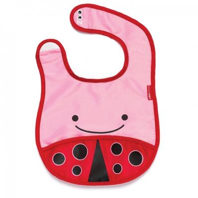 Skip Hop slabbetje lieveheersbeestje roze rood