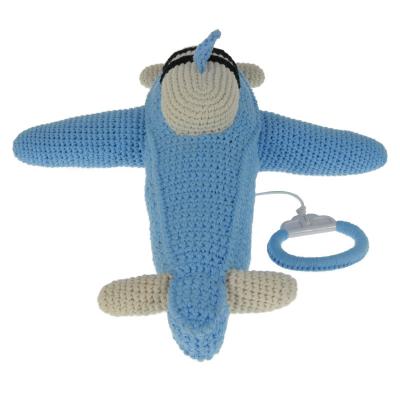 gehaakt muziekdoosje vliegtuig blauw anne claire petit