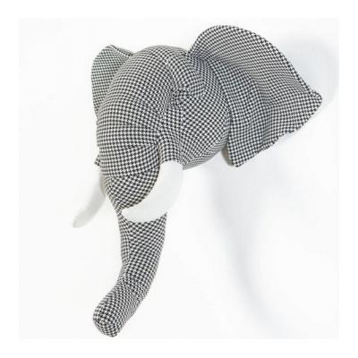 Wild & Soft dierenkop abstract olifant Andrew zwart/wit