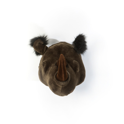 Wild & Soft dierenkop neushoorn
