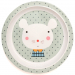 Petit Monkey Melamine plate mouse drops pebble border