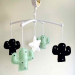 Muziekmobiel cactus zwart wit mint van Dodi for Kids