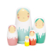 Petit Monkey Nesting dolls dripped 5-delig
