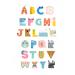 Petit Monkeys Poster ABC shaped characters 29.7 x 42 cm