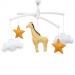 Pouce et Lina muziekmobiel giraffe geel