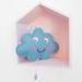 muziekdoosje blauw wolkje essies in huisje