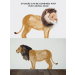 Wild & Soft muursticker leeuw