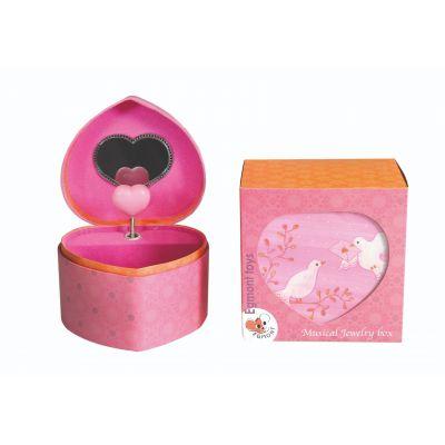 Muzikaal juwelenkoffertje duif met hartje van Egmont Toys