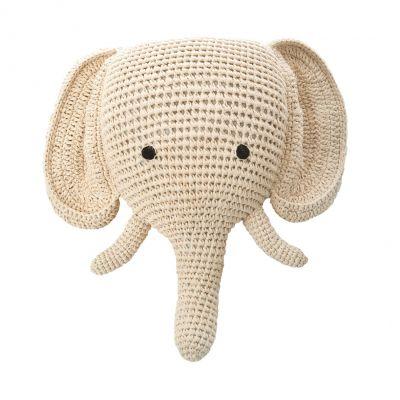 Anne Claire Petit dierenkop olifant crème