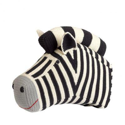 Anne Claire Petit dierenkop zebra donkergrijs