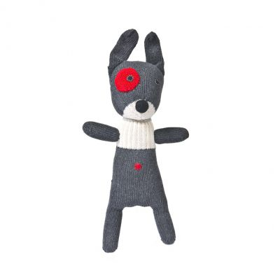 Anne Claire Petit knuffel hond donkergrijs