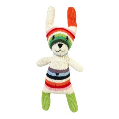 Anne Claire Petit knuffel konijn klein multikleur gestreept