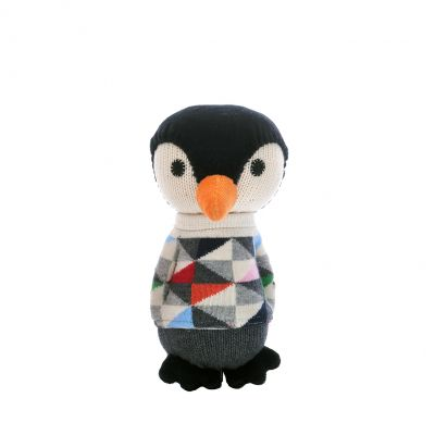 Anne Claire Petit knuffel pinguïn Lars grijs