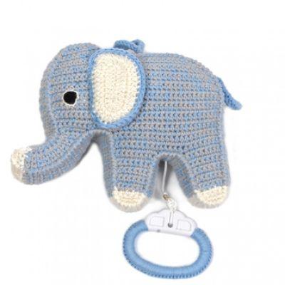 gehaakt blauw muziekdoosje olifant anne claire petit