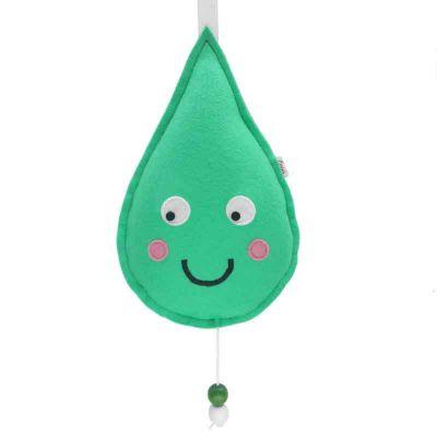 Druppel muziekdoosje groen van Essies