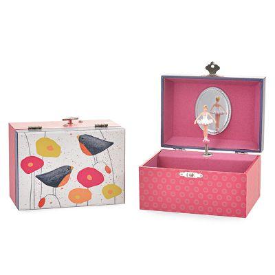 Egmont toys muziekdoosje met klaprozen en vogels aan de binnenkant een ballerina die ronddraait