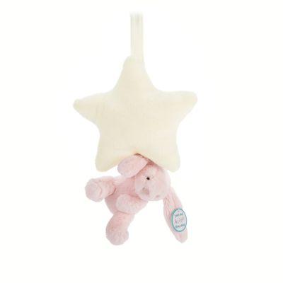 Muziekdoosje Bashful Pink konijn ster van Jellycat