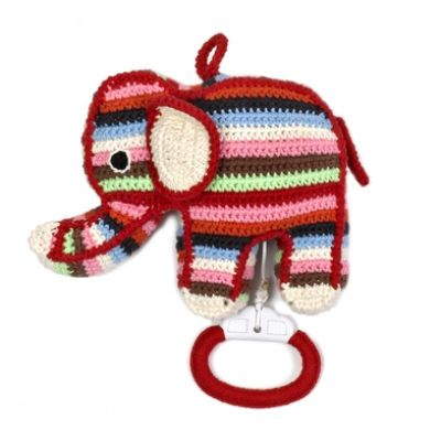 gehaakt muziekdoosje olifant gekleurd anne claire petit