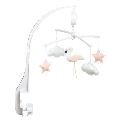 Pouce et Lina muziekmobiel flamingo wit