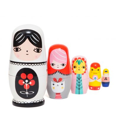 Petit Monkey Nesting dolls Fleur and Friends
