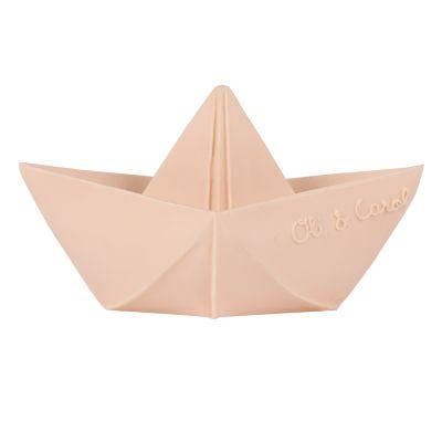 Oli & Carol bijt- en badspeeltje origami boot nude